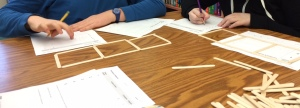 We used popsicle sticks.