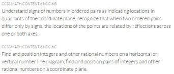 coordinate plane goals 1