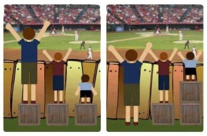 Equity and equality does not look the same for everyone.